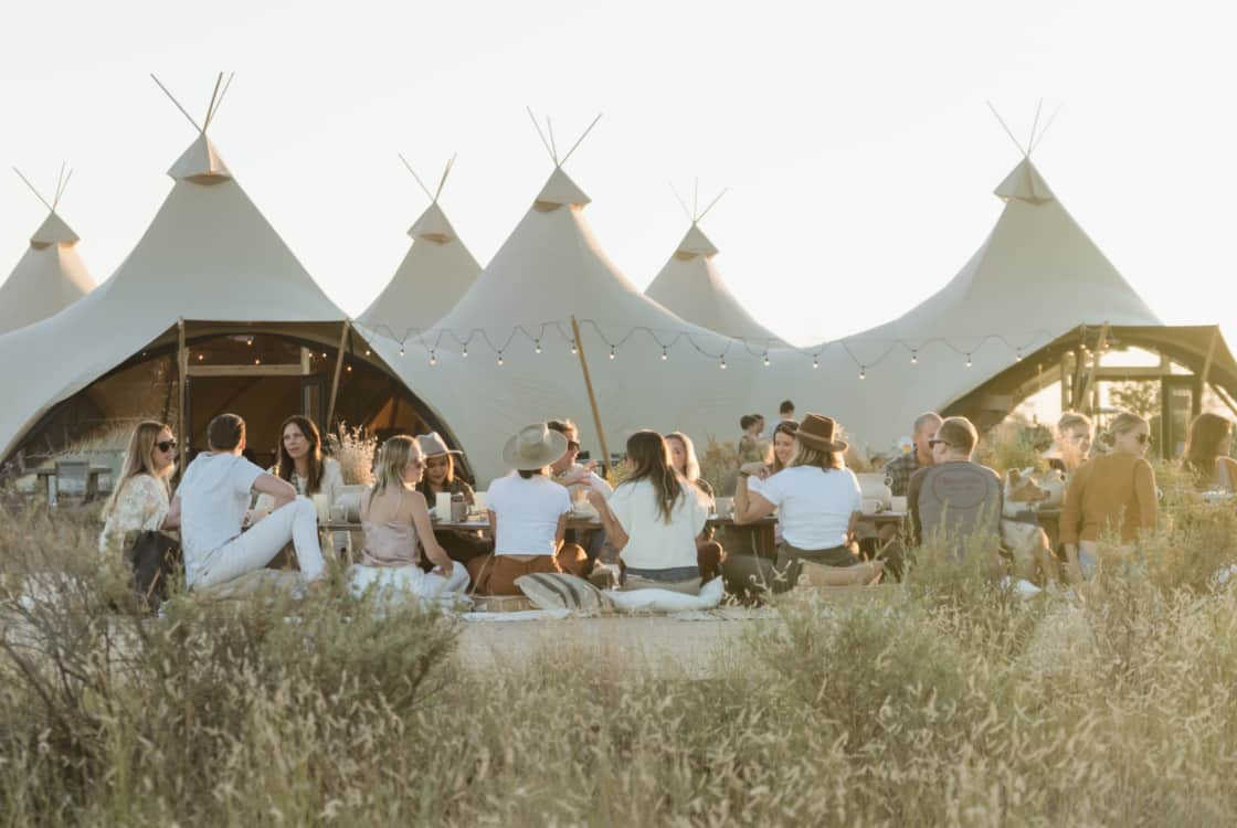 Dining Event outside at Under Canvas Grand Canyon