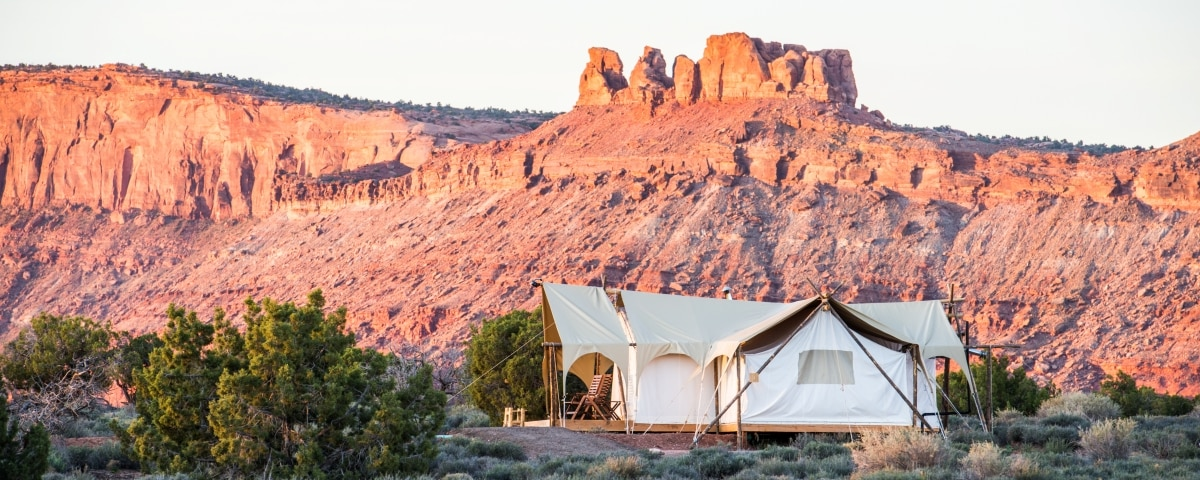 Suite Tent Exterior in Moab